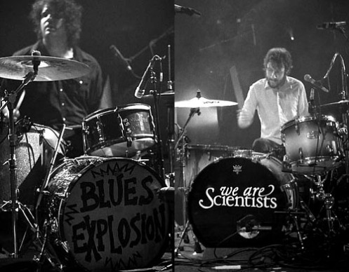 Russel Simins - Blues Explosion (left) / Michael Tapper - We Are Scientists (right)
